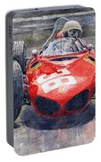 Ferrari 156 Sharknose Phil Hill Monaco 1961 Portable Battery Charger