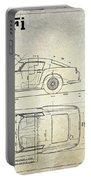 Ferrari 250 Gt Blueprint Antique Portable Battery Charger