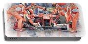 2012 Ferrari F 2012 Fernando Alonso Pit Stop Portable Battery Charger