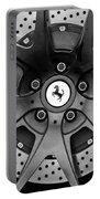 Ferrari Wheel Emblem - Brake Emblem -0430bw Portable Battery Charger