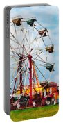 Ferris Wheel Against Blue Sky Portable Battery Charger