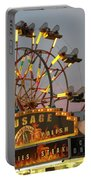 Ferris Wheel And Fair Food Portable Battery Charger