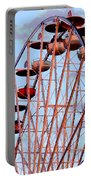 Ferris Wheel At Sunset Portable Battery Charger