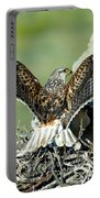Ferruginous Hawk Male At Nest Portable Battery Charger