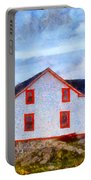 Ferryland Lighthouse In Newfoundland Portable Battery Charger