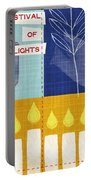 Festival Of Lights Portable Battery Charger by Linda Woods
