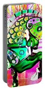 Festive Green Carnival Horse Portable Battery Charger