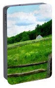 Field Near Weathered Barn Portable Battery Charger
