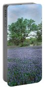 Field Of Bluebonnet Flowers, Texas, Usa Portable Battery Charger
