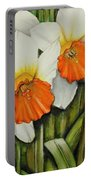 Field Of Daffodils Portable Battery Charger