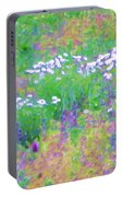 Field Of Flowers In Nature Portable Battery Charger