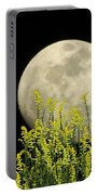 Field Of Gold By Moonlight Portable Battery Charger