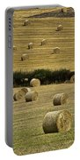Field Of Hay Bales Portable Battery Charger