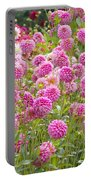Field Of Pink Dahlias Portable Battery Charger