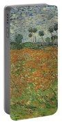 Field Of Poppies, Auvers-sur-oise, 1890 Portable Battery Charger