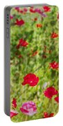 Field Of Poppies Digital Art Prints Portable Battery Charger