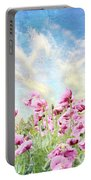 Field Of Poppies Stillliefe Portable Battery Charger