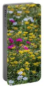 Field Of Pretty Flowers Portable Battery Charger