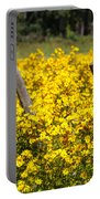 Field Of Yellow Portable Battery Charger