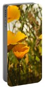 Field Of Yellow Poppies Portable Battery Charger