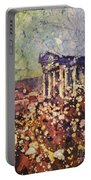Fields Of Flower- And Roman Temple Portable Battery Charger