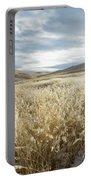 Fields Of Grass In Nevada Desert Portable Battery Charger