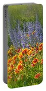Fields Of Lavender And Orange Blanket Flowers Portable Battery Charger