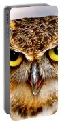 Fierce Eyes Portable Battery Charger by Parker Cunningham