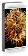Fiery Floral Portable Battery Charger