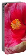 Fiery Hibiscus Portable Battery Charger