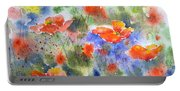 Fiery Poppies Portable Battery Charger