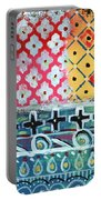Fiesta 6- Colorful Pattern Painting Portable Battery Charger by Linda Woods
