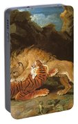 Fight Between A Lion And A Tiger, 1797 Portable Battery Charger