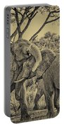fighting male African elephants Portable Battery Charger