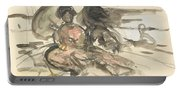 Figure Study Two Women Seated Portable Battery Charger