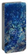 Figures On A Bridge Oil On Canvas Portable Battery Charger