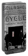 Film Homage Butch Cassidy 1969 Russell And Sheldon Bicycles C.1895 Tucson Arizona 2008 Portable Battery Charger
