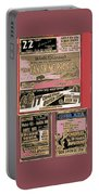 Film Homage Collage Drive-in Ads 1953 Tucson Arizona 2008 Portable Battery Charger