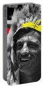 Film Homage Jean-paul Belmondo  Fake Indian Bonnet Love Is A Funny Thing  Old Tucson Az 1969-2008 Portable Battery Charger