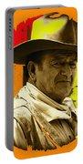 Film Homage John Wayne Andy Warhol Inspired Rio Lobo Variation 1 Old Tucson Arizona 1970-2009 Portable Battery Charger