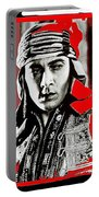 Film Homage Rudolph Valentino The Shiek 1921 Collage Color Added 2008 Portable Battery Charger