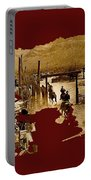Film Homage The High Chaparral Set Collage Old Tucson Arizona C.1967-2013 Portable Battery Charger
