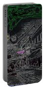 Film Noir Lee Marvin Sylvia Sidney Violent Saturday 1956  C.1885 Bisbee Az Drawing Color Added 2008 Portable Battery Charger