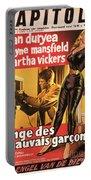 Film Noir Poster  The Burglar Jane Mansfield Portable Battery Charger