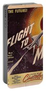 Film Poster Flight To Mars Portable Battery Charger