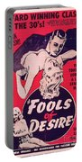 Film Poster Fools Of Desire 1930s Portable Battery Charger