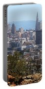Financial District From Corona Heights Portable Battery Charger