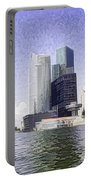 Financial District Of Singapore And View Of The Water Portable Battery Charger