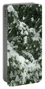 Fir Tree Branch Covered With Snow  Portable Battery Charger