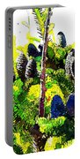 Fir Tree Buds Abstract Portable Battery Charger